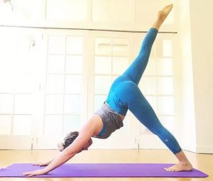 Emily Badillo yoga stretch